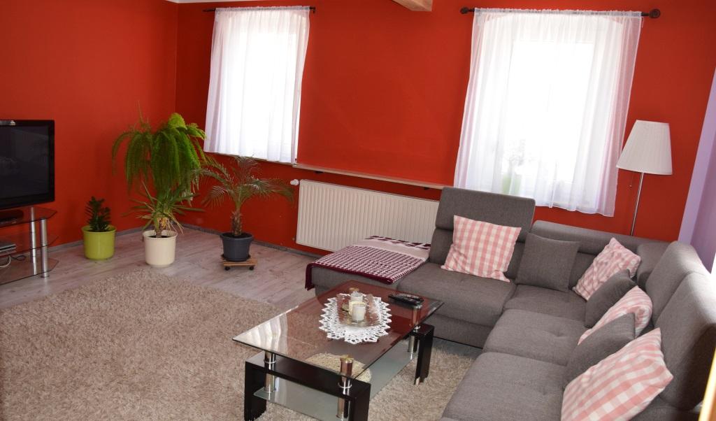 Wohnzimmer, Blick Fernseher